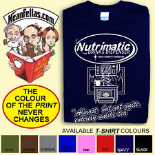 """HITCHHIKER'S GUIDE TO THE GALAXY inspired """"NUTRIMATIC""""  T-SHIRT: FREE POSTAGE"""