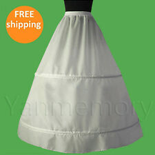Flower Girls Children Kids White A-Line 2-Hoop Petticoat Underskirt Slip Hoops