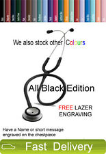 Littmann Classic II SE Stethoscope All Black Edition FREE LASER ENGRAVING