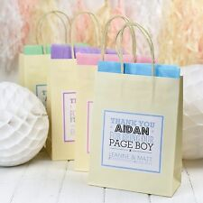 PERSONALISED PAPER WEDDING FAVOUR PARTY GIFT BAGS - WITH TISSUE