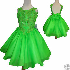 Toddler & Little Girl Formal Dress for Pageant Wedding Green size: 1-7 yesrs old