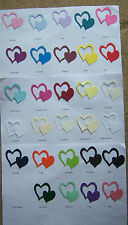 PACK OF 50 - DOUBLE HEARTS - SIZZIX DIE CUT - FOR WEDDING INVITATIONS AND CRAFTS