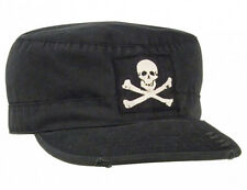"Rothco Vintage Black ""Jolly Roger"" Fatigue Cap"