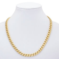 18 KT Gold Overlay 10 mm Cuban (Curb) Link Chain Necklace - Lifetime Warranty