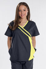 Rockhopper Princess New Style Nurse Uniform Scrubs Set Top Pant Pewter Dark Grey