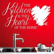 KITCHEN HEART OF HOME - Kitchen, Dining, Wall Art Quote Sticker Decal