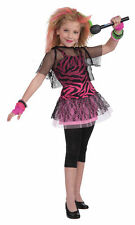 1980s Punk Rock Star Girl Halloween Costume 80s Outfit Child 67013 67014 67015
