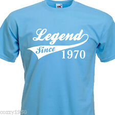 LEGEND SINCE 1970, FUNNY MENS TSHIRT 44th BIRTHDAY PRESENT 7 COLOURS 6 SIZES