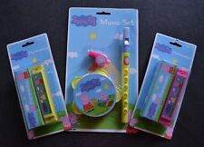PEPPA PIG TOY BBC TV CARTOON MUSIC SET TAMBOURINE HARMONICA FLUTE RECORD WHISTLE