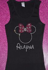 Minnie Mouse Personalized Hot Pink Rhinestone TANK or SHIRT Disney Cruise