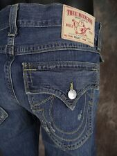 NWT Mens TRUE RELIGION Jeans RICKY DOUBLE STITCH in OLD COUNTRY Straight Leg