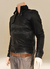 New Hot Men's Slim fit Top Designed Sexy Leather Short Vintage Biker Jacket Coat