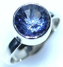 Mystic Blue TOPAZ 925 Sterling SILVER Ring Solitaire Gemstone Rings, New Jewelry