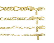 Made In USA 18K Gold Plated Figaro Chain Necklace/Bracelet - LIFETIME WARRANTY