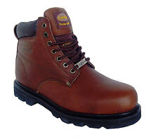 La Vega 8639 Mens Brown Leather Insulated Slip Resistant Steel Toe Work Boots
