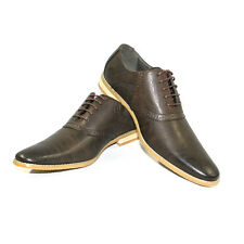 New Mens Dress Shoes Brown Bravo Bavis Pointed Toe Leather Lining  Modern Style