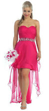 NEW STRAPLESS HIGH LOW COCKTAIL DRESS FORMAL DANCE PARTY PAGEANT PROM +PLUS SIZE