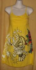 Ed Hardy womens yellow baby doll chemise nightgown Eternal Love top $85
