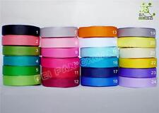 "3/8""9mm Plain Color Grosgrain Ribbon Lot 50 Yard 100Yard 24 Colors U Pick"
