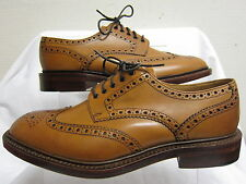 Mens Loake Tan Leather Lace Up Formal Brogue Shoes CHESTER 2 TAN