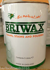 Briwax/ Furniture Wax/ Woodwork/ Stain/  ALL COLOURS (PICK FROM LIST)/ 5 Litres