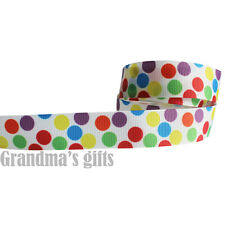 """7/8""""22mm Colourful Donuts Printed grosgrain ribbon 5/50/100 yards hairbow Wholes"""