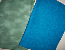 NEW Handmade CottonFabric Watercolors Solid Sage Green Blue Orange Yellow Brown