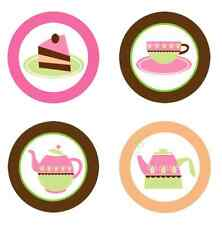 Tea Time Edible Cupcake Toppers Decoration