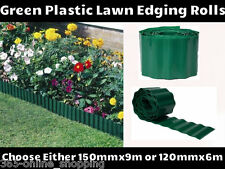 GREEN PLASTIC GARDEN GRASS LAWN EDGE EDGING BORDER FENCE WALL DRIVEWAY ROLL NEW