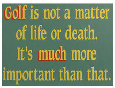 """FUNNY SIGN / PLAQUE """"The Importance Of Golf"""" for any golfer or club tee pro shop"""