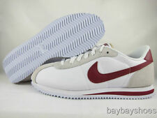 NIKE CORTEZ BASIC LEATHER '06 WHITE/TEAM RED SUEDE CLASSIC RUNNING MENS SIZES