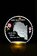 Your baby photos etched for a lasting keepsake free personalizing & shipping
