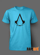 BNWT ASSASSINS CREED GAMING XBOX PS3 BIRTHDAY ADULT T SHIRT S-XXL PERSONALISED