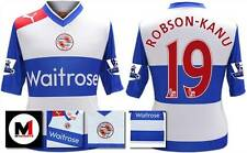 *12 / 13 - READING HOME SHIRT SS + PREM ARM PATCHES / ROBSON-KANU 19 = SIZE*
