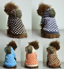Fury Dotted Dog Coat with Hoodie *Many Colours & Sizes*
