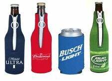 Anheuser Busch Neoprene Bottle and Can Koozies - Budweiser, Bud Light, Michelob