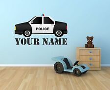 Personalised Police Car Wall art sticker,decal, Graphic, Decal, Bedroom sg57