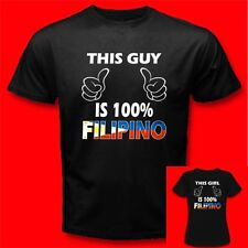 THIS GUY/GIRL IS 100% FILIPINO Philippines Philippine Flag Funny T-SHIRT V77