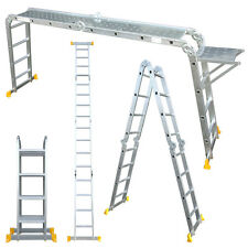 Aluminium Multi-Purpose Combination Ladder 3.7/4.7 Meters 4x3/4 - Free Platforms