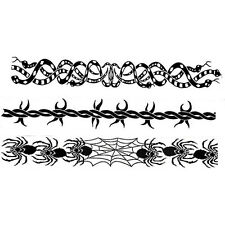 Fake Barb Wire Tattoo Arm Bicep Snakes Spiders Spiderweb Barbed Band Temporary