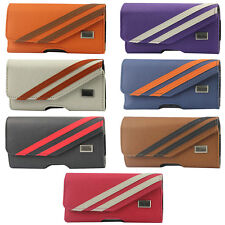 Horizontal Twill Pattern Stripes Pouch Case Cover for Samsung Galaxy S Pick Any