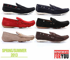 New Mens Suede Driving Shoes Designer Loafers Casual Slip-Ons Summer Moccasins