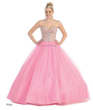 QUINCEANERA PROM SWEET 16 BALL GOWN PAGEANT MASQUERADE MILITARY CINDERELLA DRESS