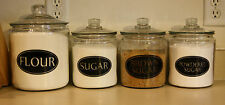 4 OVAL PERSONALIZED KITCHEN CANISTER JAR LABELS VINYL DECALS