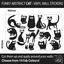 CAT, CATS - Vinyl Wall Art Stickers, Decal - 15 CATS in total