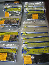 """4"""" Dream Tubes Great Lakes Series Fishing Lure Worms, Jigs, Bass Rigs 8 Per Pack"""