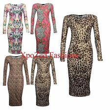WOMENS CELEBRITY PRINTED LONG LENGHT BODYCON MIDI MAXI DRESS SUMMER DRESSES 2013