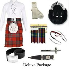 Royal Stewart 5 Yard Deluxe Casual Kilt Package Incl Sporran, Belt & Kilt Pin.