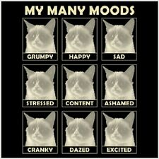 My Many Moods Grumpy Cat Tard Cat T shirt  Funny Tee Sizes Youth - 6XL