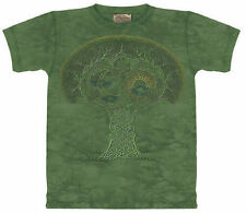 CELTIC ROOTS Tree T-Shirt THE MOUNTAIN 100% Cotton Tie-Dye Fantasy Tee